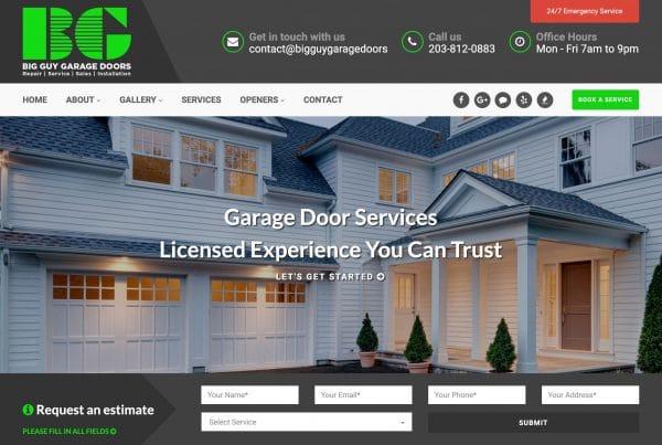 Big Guy Garage Doors Website