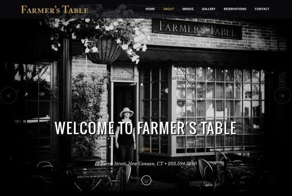 Website Design for Farmer's Table