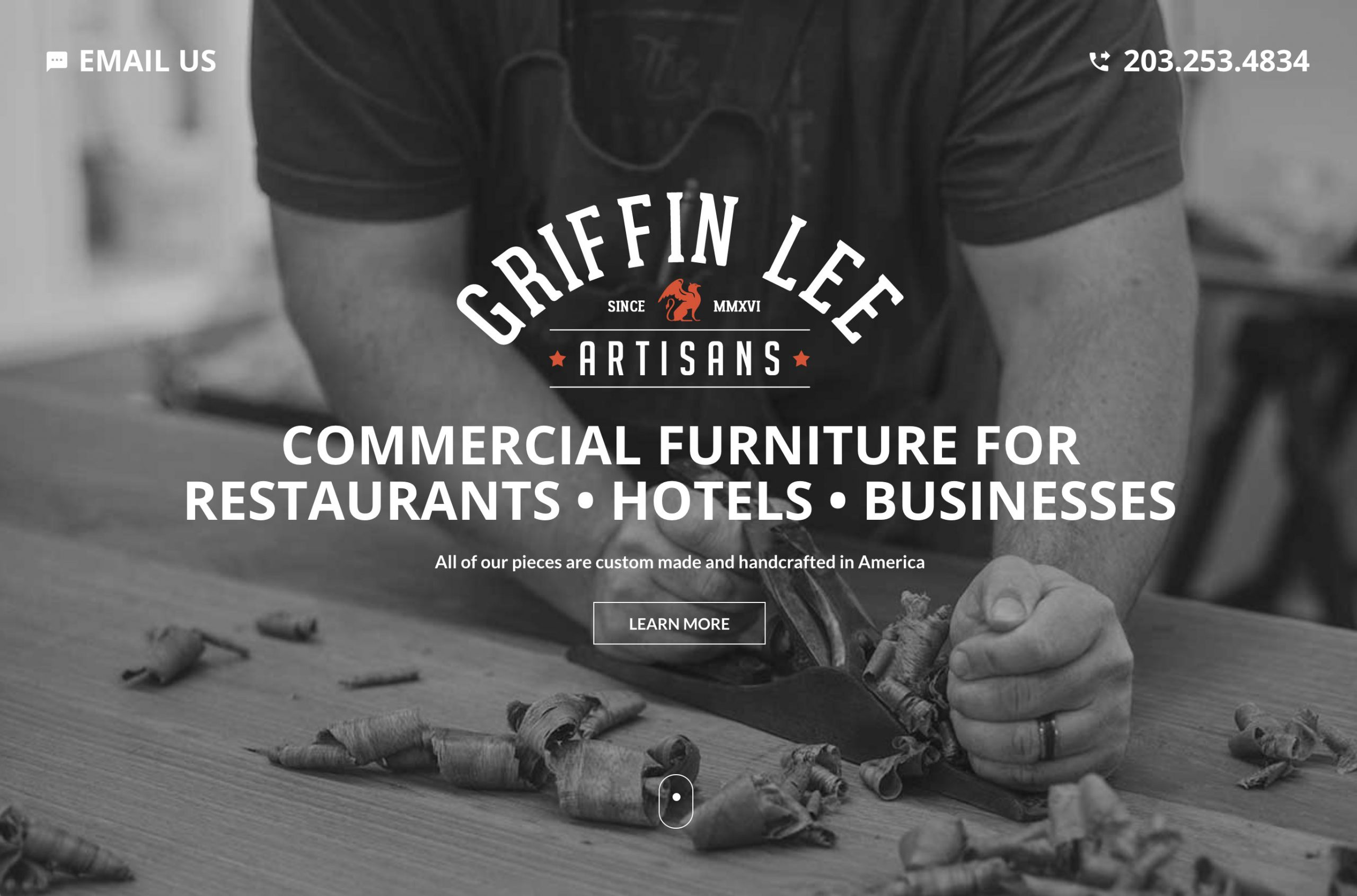 Website Designed for Commercial Furniture Manufacturer