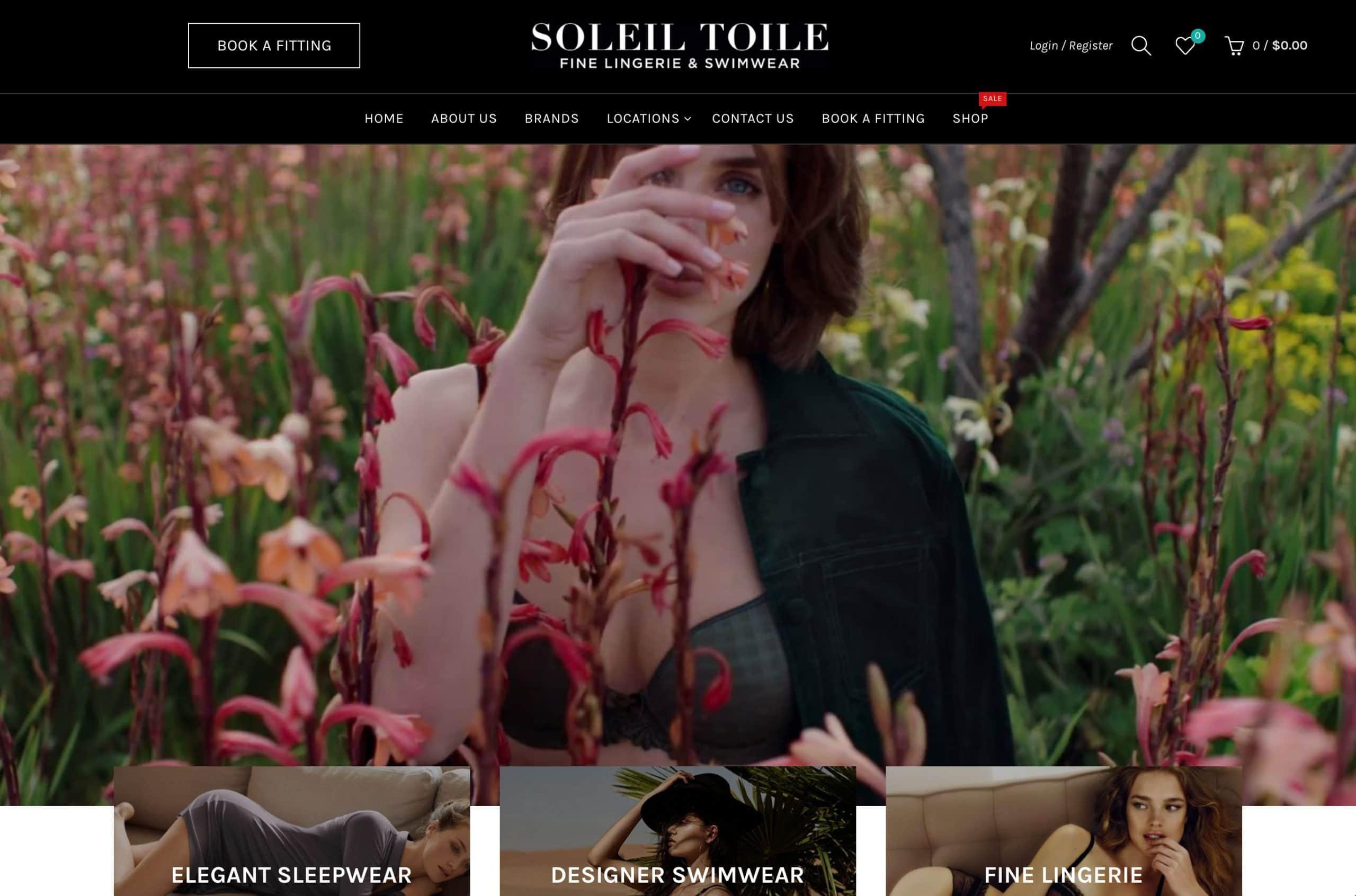 Soleil Toile Website