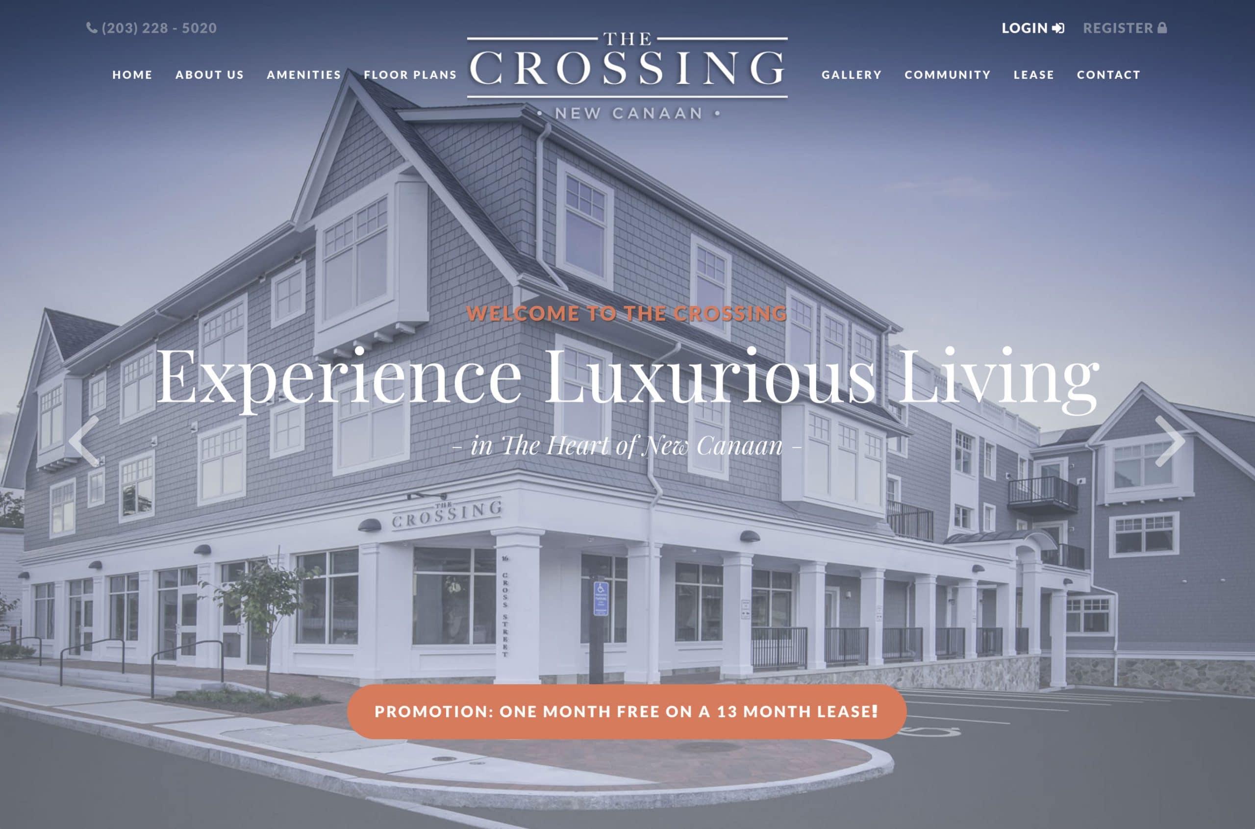 The Crossing Apartment Complex Website