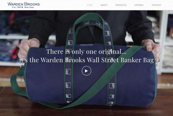 Website designed for Warden Brooks