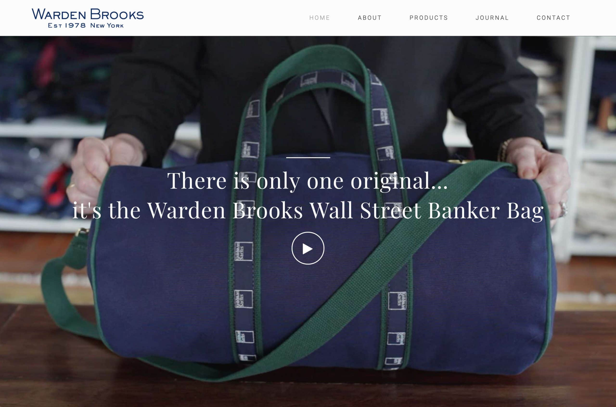 Website designed for Warden Brooks