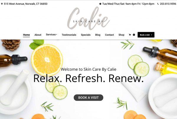 Skin Aesthetician Website Design