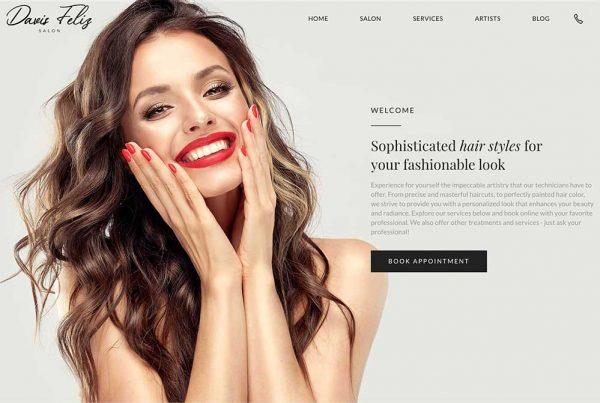 Hair Salon Website Designed for Greenwich Hair Salon