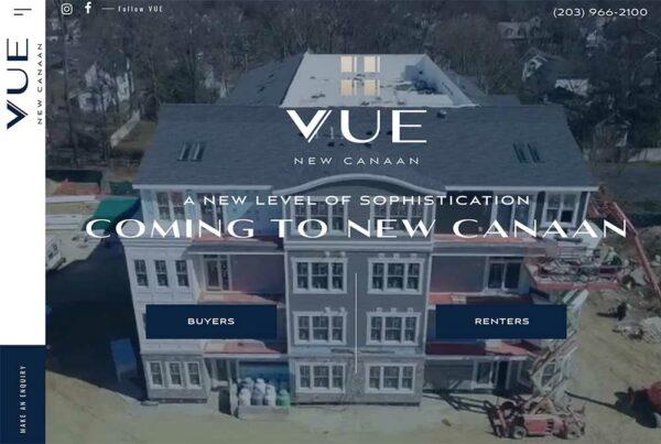 The Vue New Canaan Website